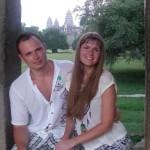 Я с Таней в Ангкоре
